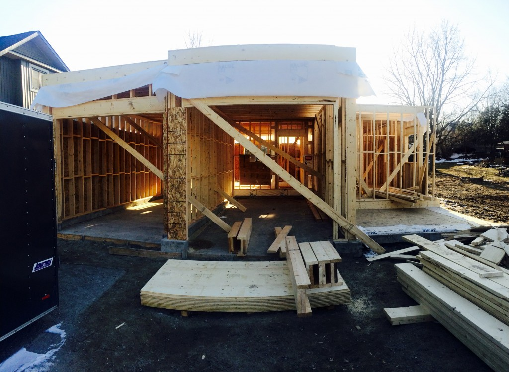 Within a week you will see a second story and by early April we will be all buttoned up.