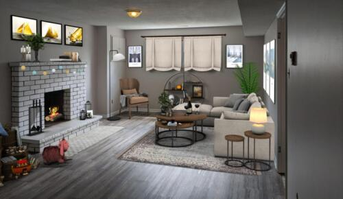 (After) Living Room at Woodglade Blvd