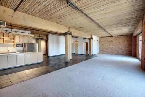 Massive loft living space