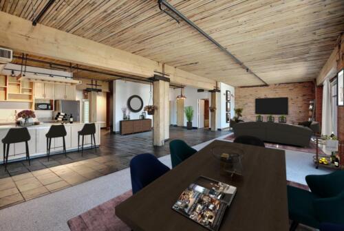 Staged loft living