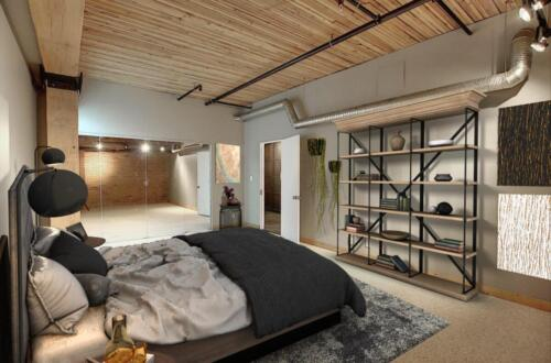 Complete loft bedroom