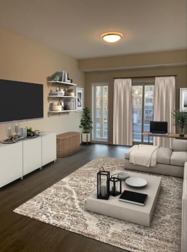 (After) Living Room at 344 Florence Dr