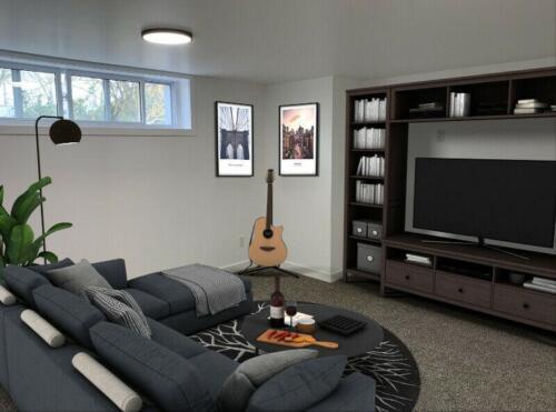 (After) Living Room at 1443 Westbrook Dr